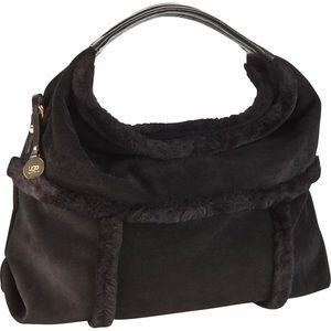UGG Lambskin Leather and Lamb Fur Satchel